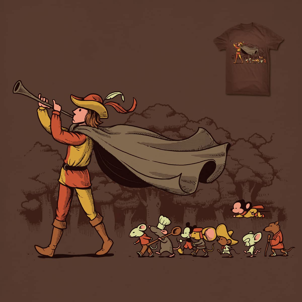 Follow the Flute by ben chen on Threadless
