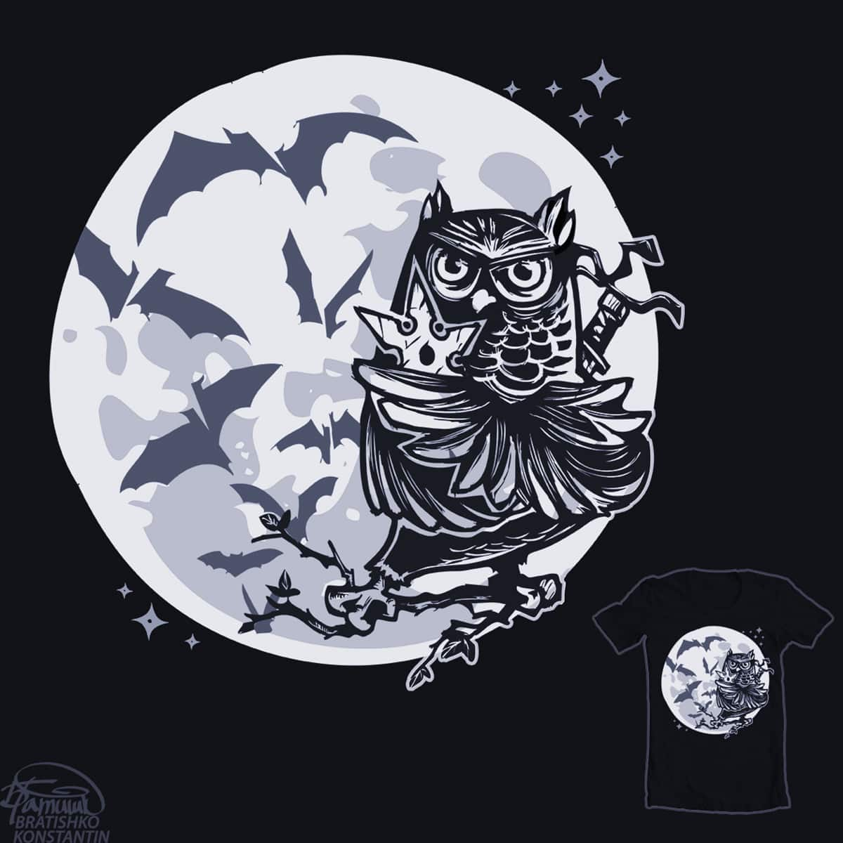 ninja owl  by KONSTANTIN BRATISHKO on Threadless