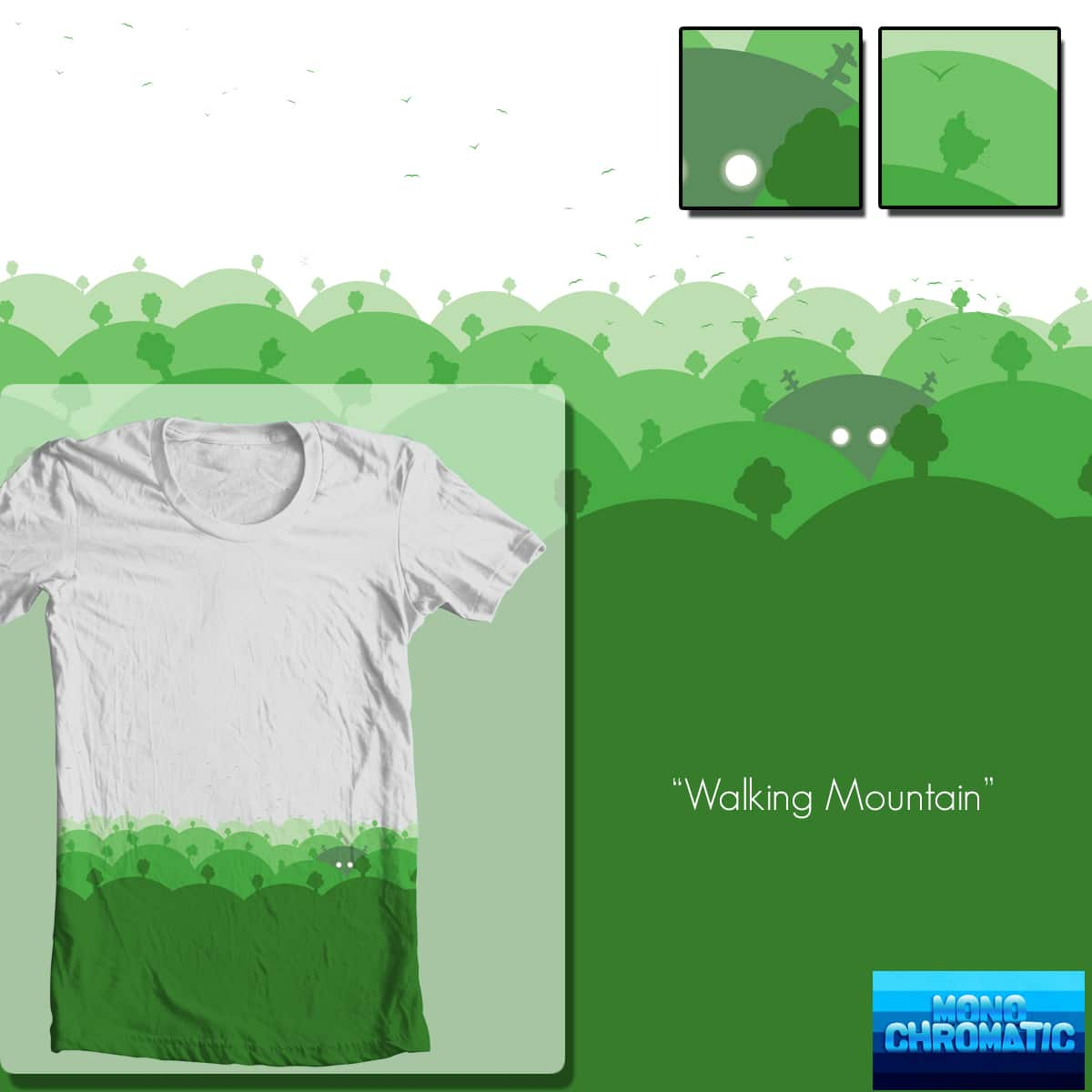 Walking Mountain  by adrianinked on Threadless