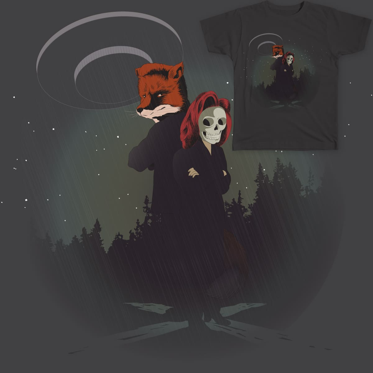 Fox and Skully by nova_i on Threadless