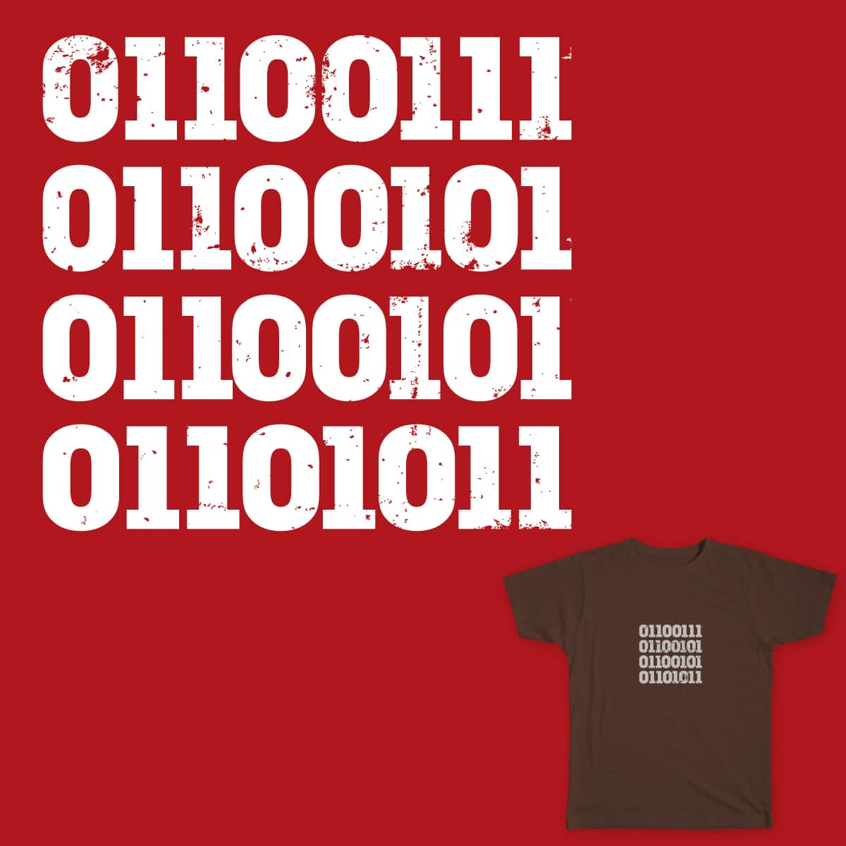 Binary:Geek by recordbaby on Threadless