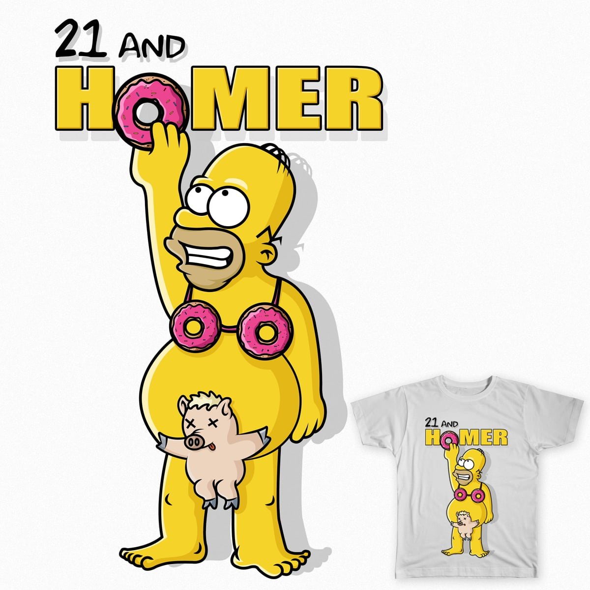 21 and HOMER by BryleNapay on Threadless