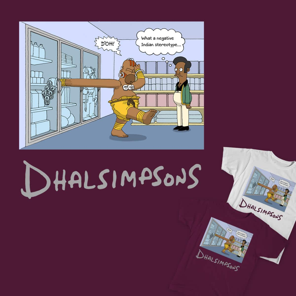 Dhalsim x Simpsons by penguiener on Threadless