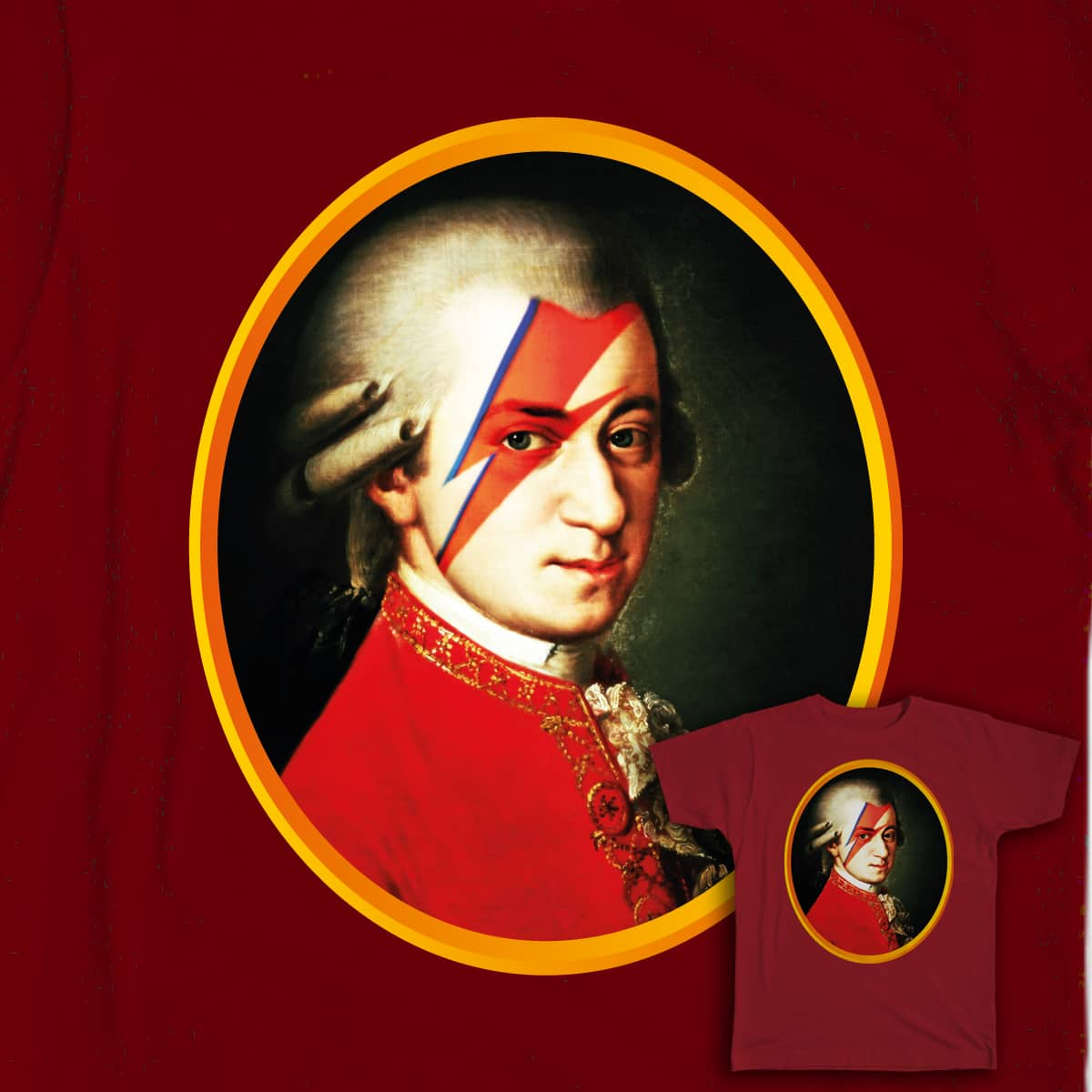 Mozart Bowie by rodalume on Threadless