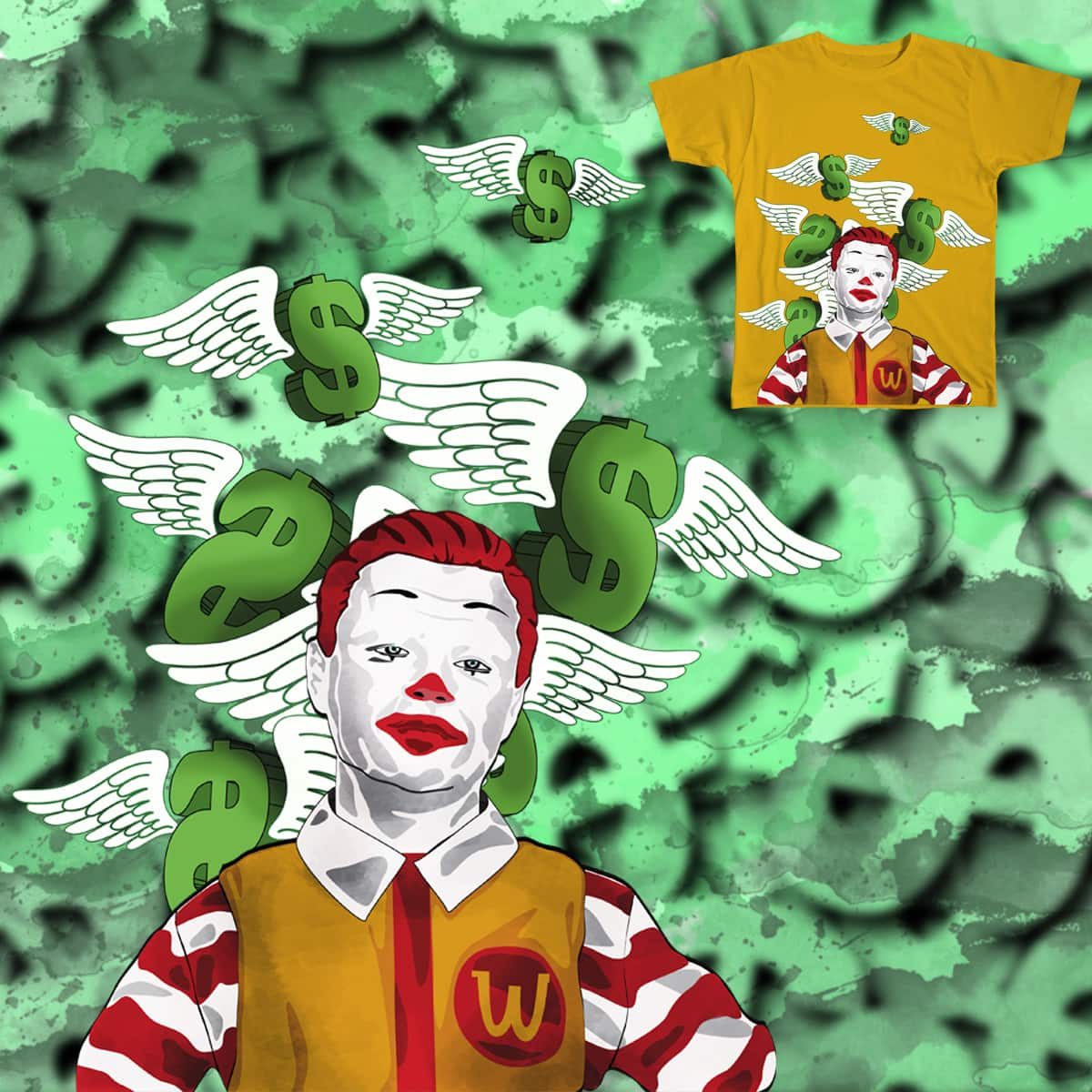 if money isnt everything WORK at Wc Donalds by decun.devin on Threadless