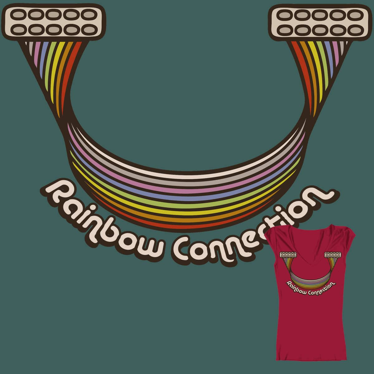 Rainbow Connection by kagry on Threadless