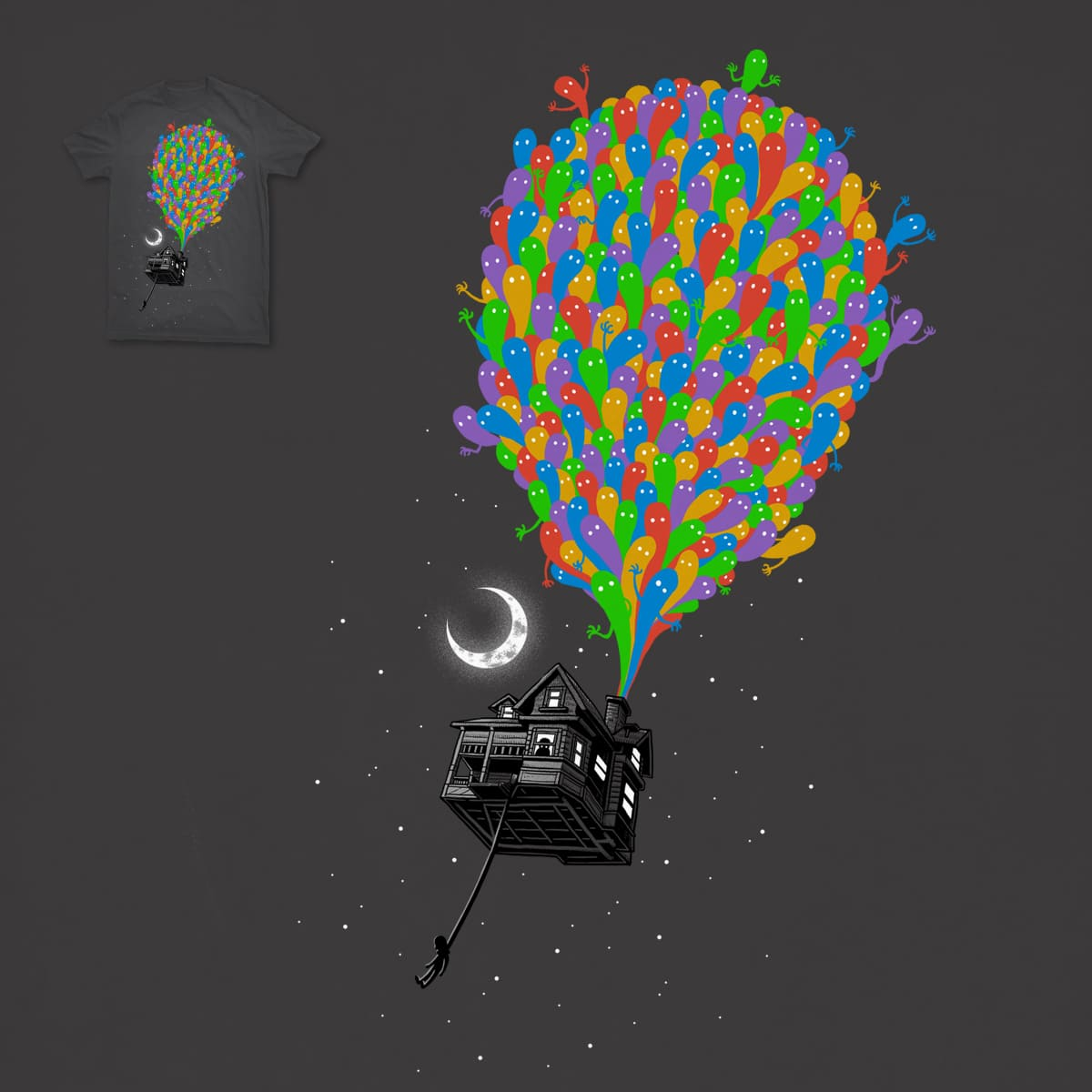 Up But Haunted by ben chen on Threadless