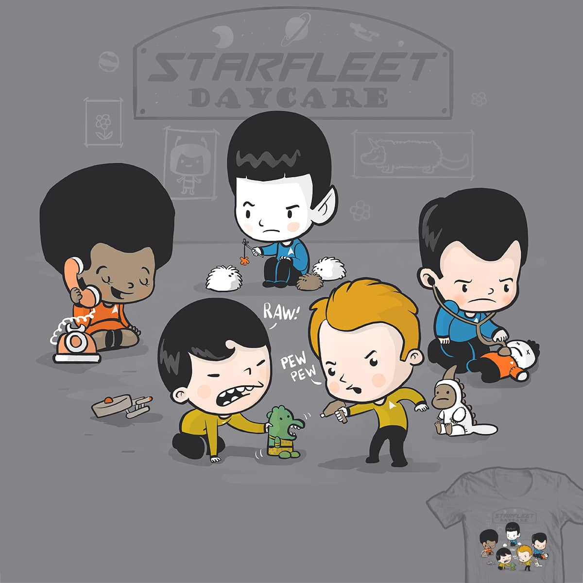 Starfleet Daycare by queenmob on Threadless