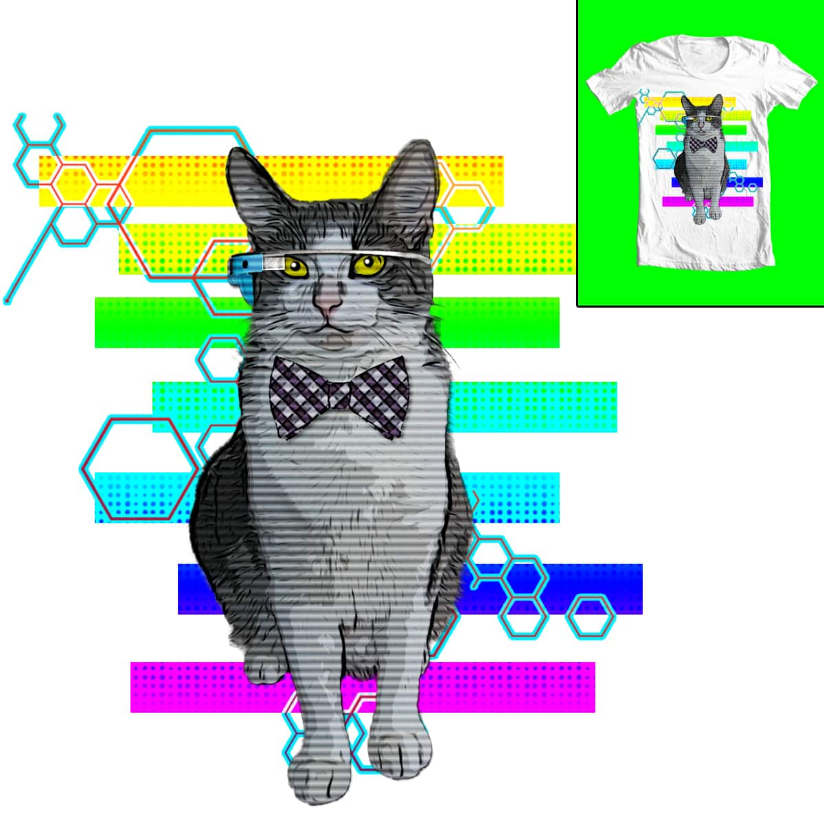 Geeked Cat by Livingston76 on Threadless