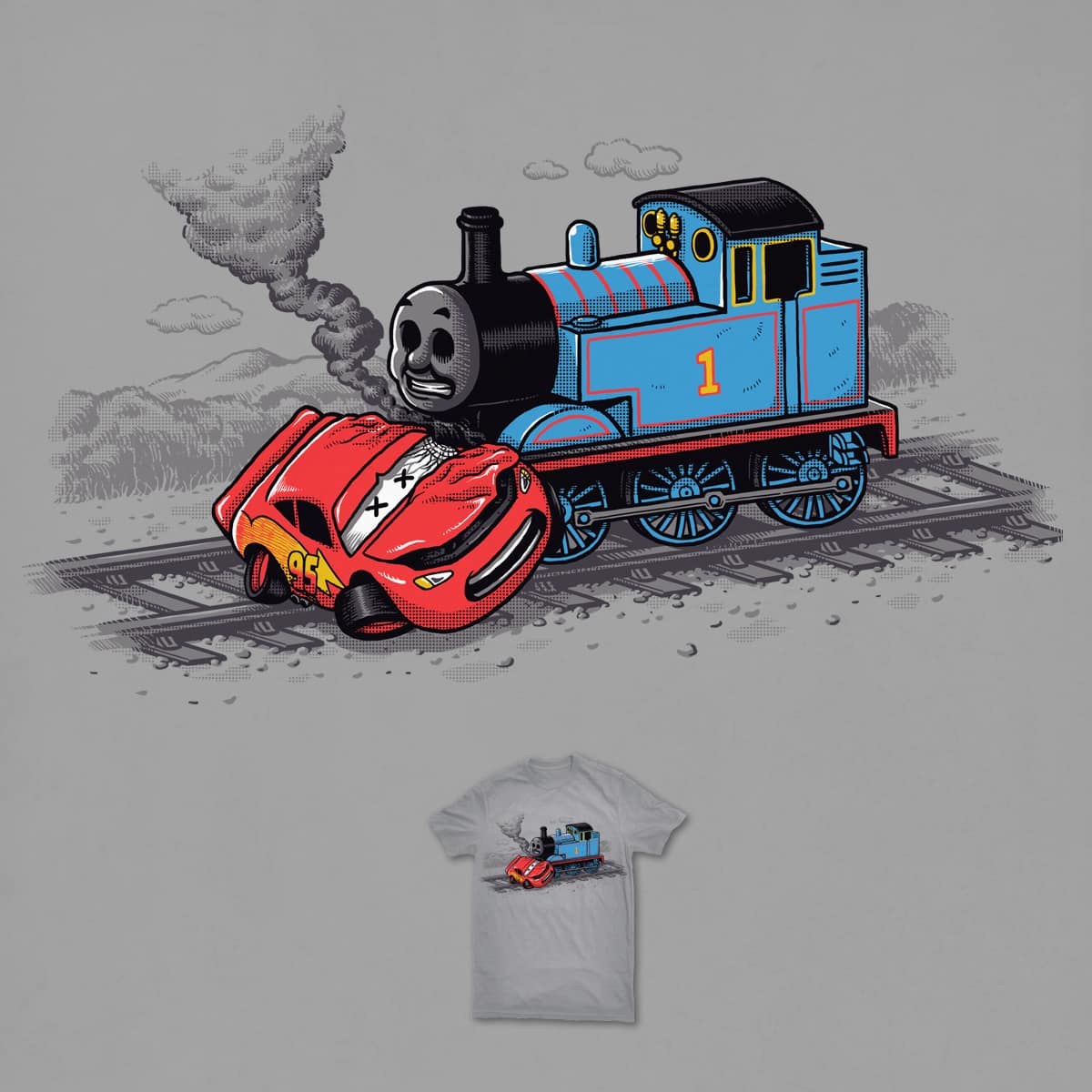 Hit By Train by ben chen on Threadless