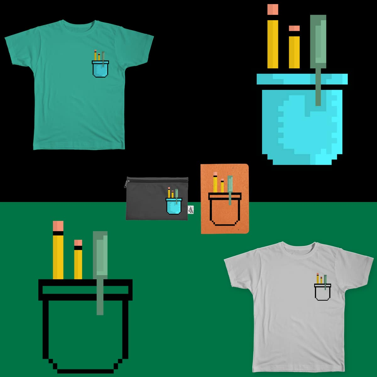 8 Bit Pocket by heycoffey on Threadless
