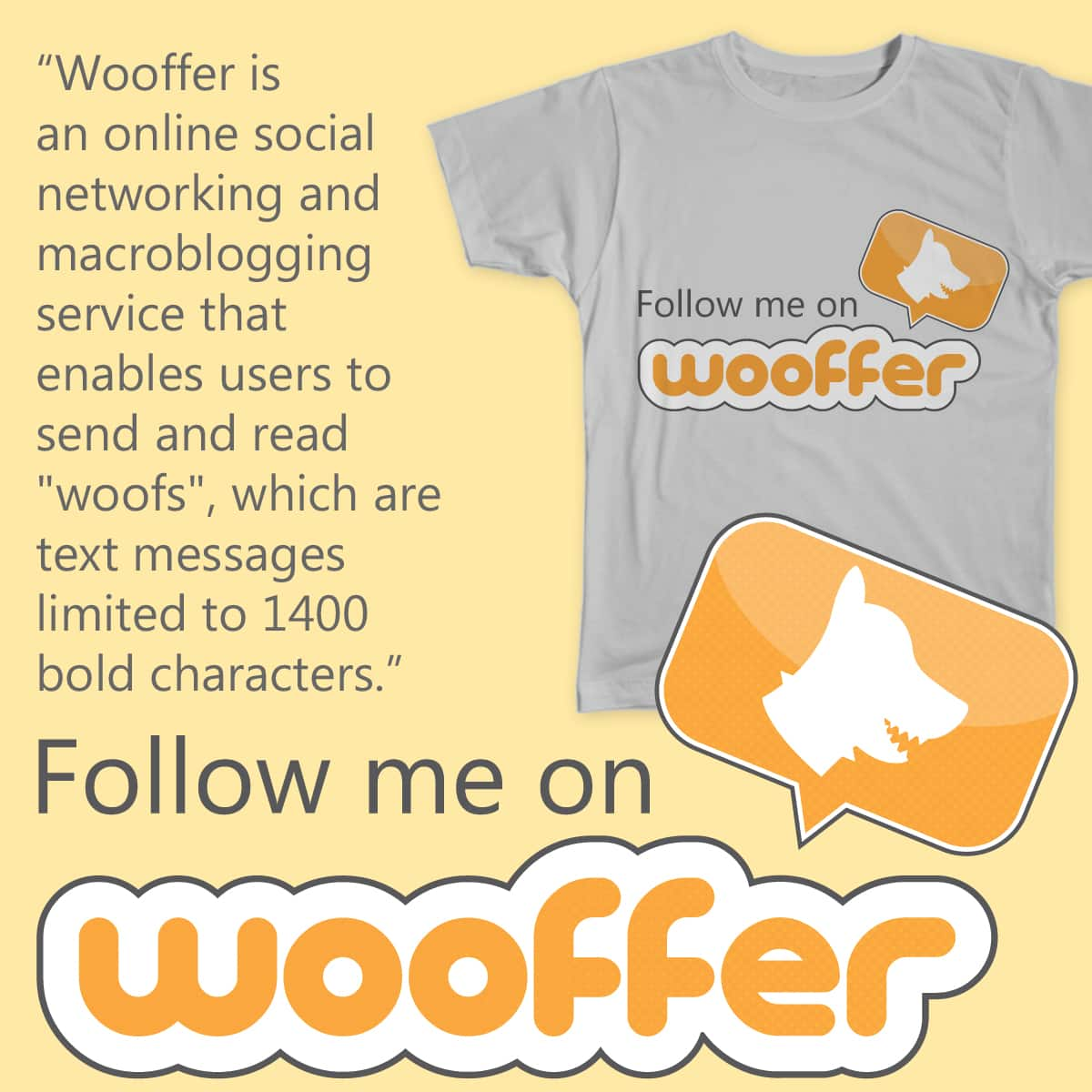 Follow me on Wooffer by mxclouti on Threadless