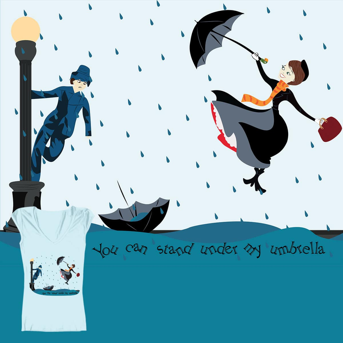 Under my Umbrella by J_Lc on Threadless