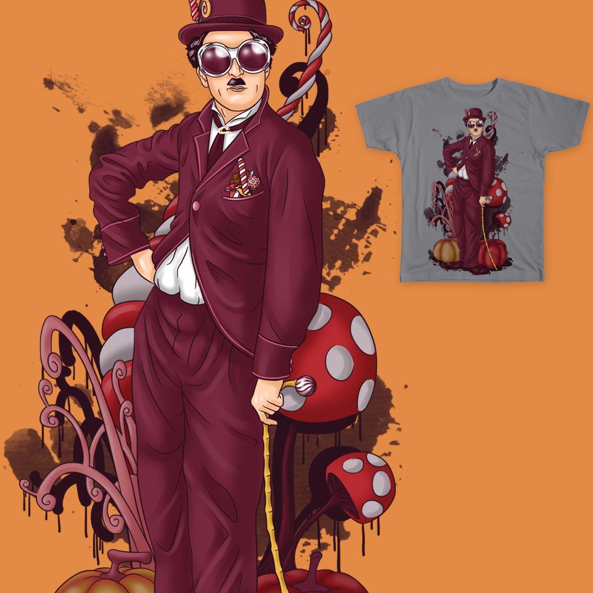 Charlie Chaplin at The Chocolate Factory by Akari Kokoh on Threadless