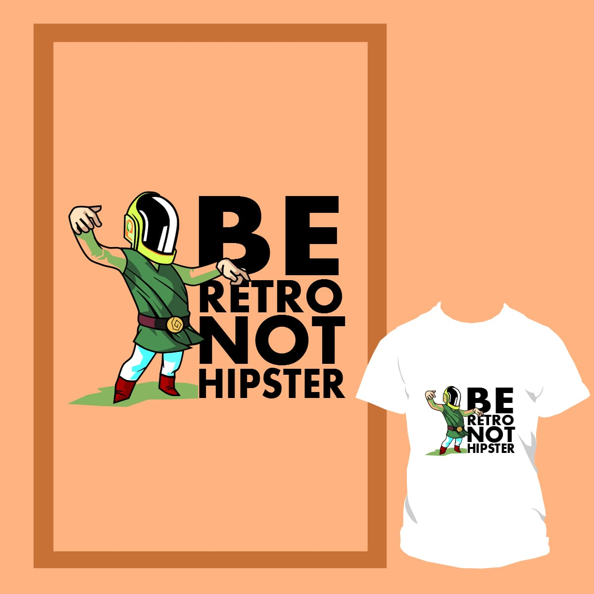LinkPunk isn't a Hipster by DizesVictor on Threadless