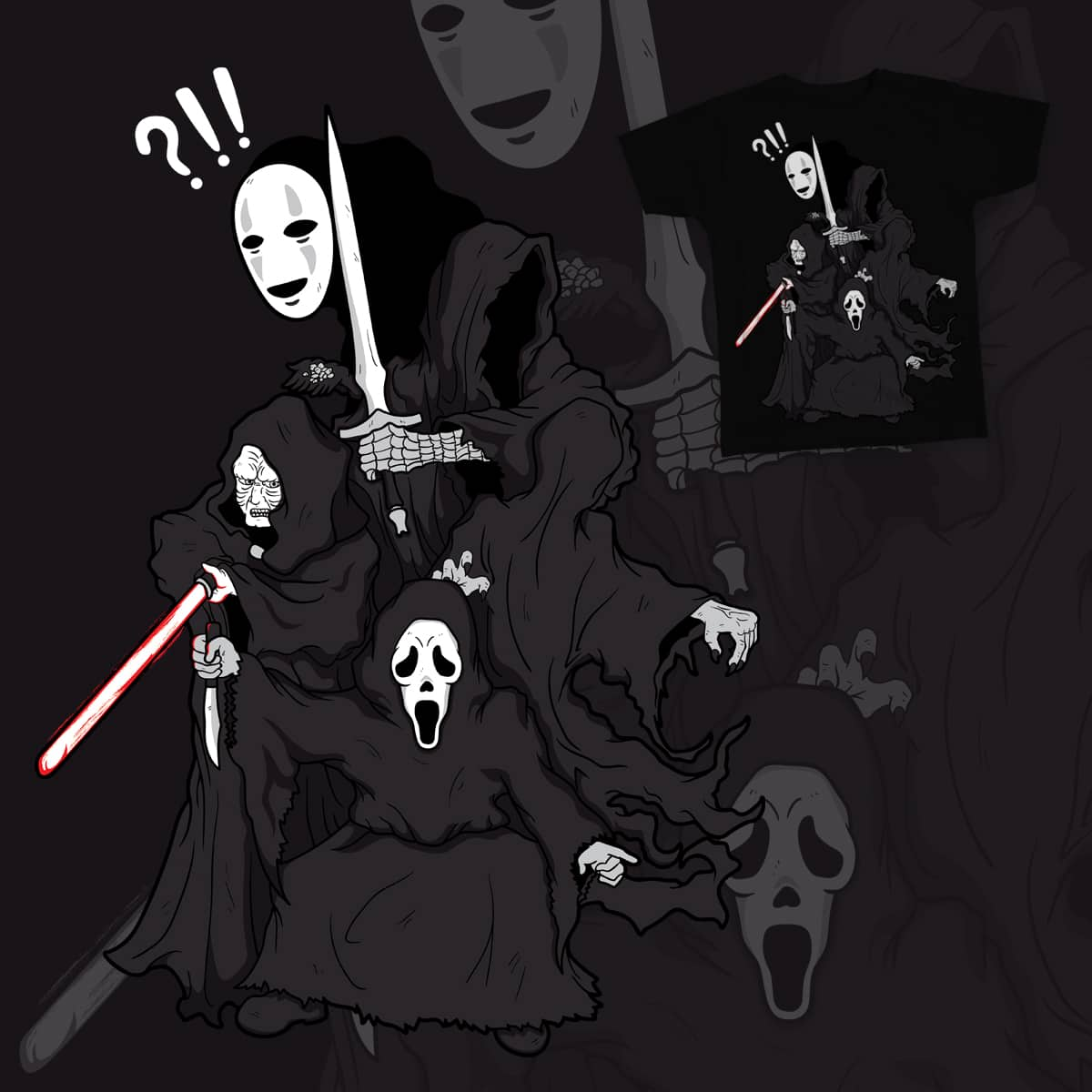 Black Cloak Party by kumaoso on Threadless