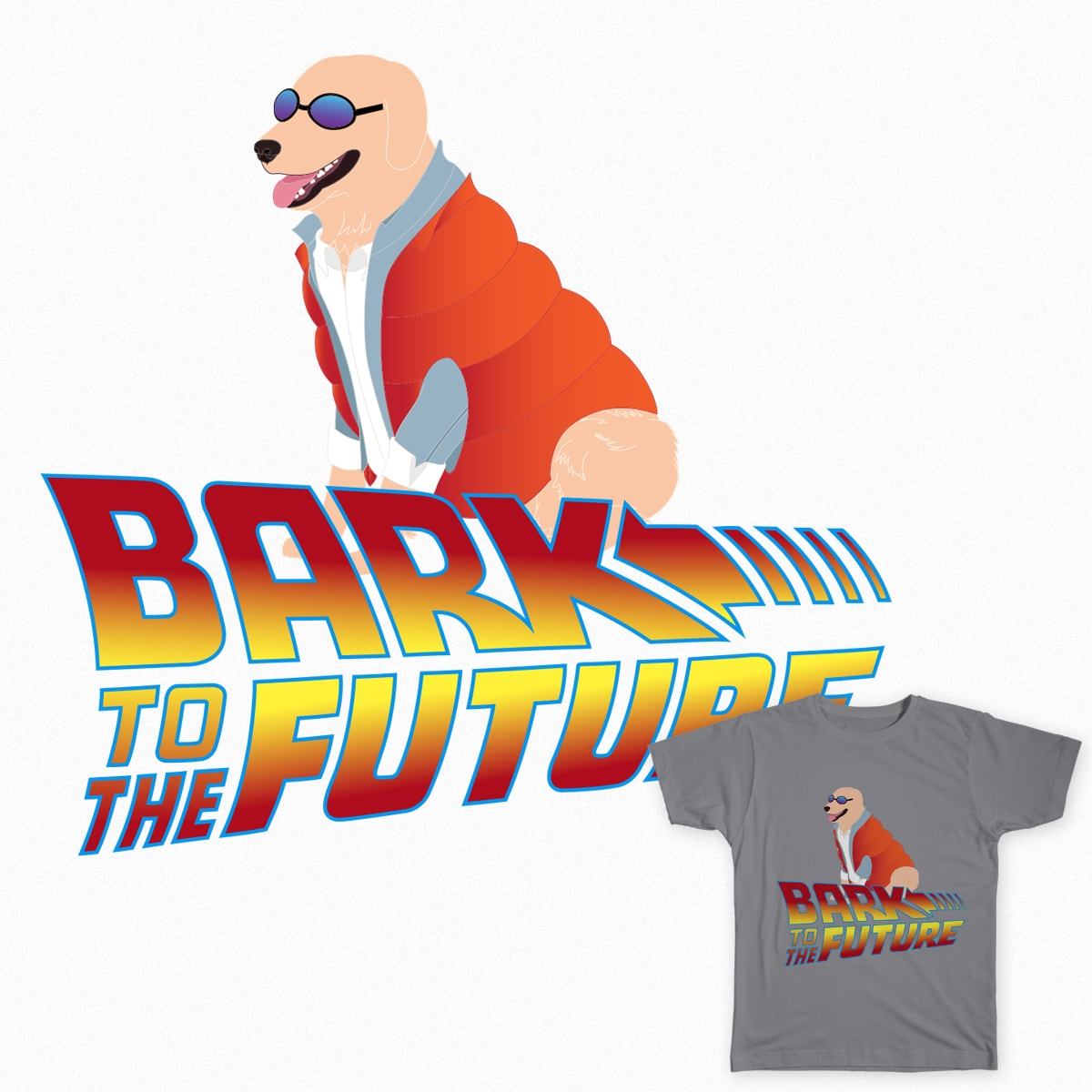 Bark To The Future by madradamber on Threadless