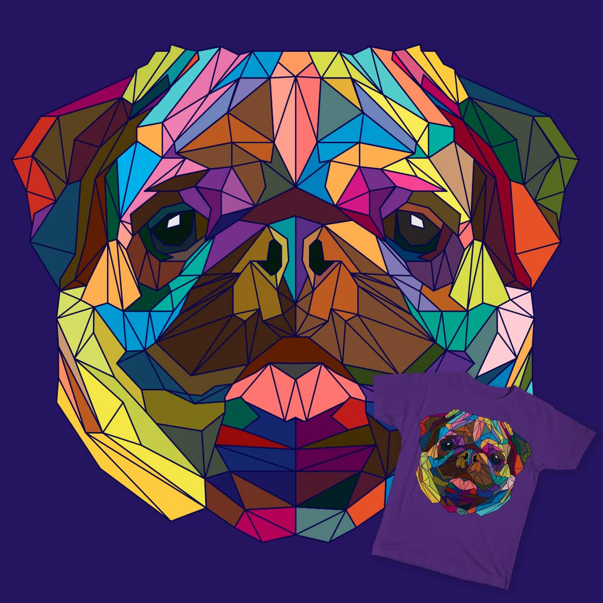 fragile pug by sknny on Threadless