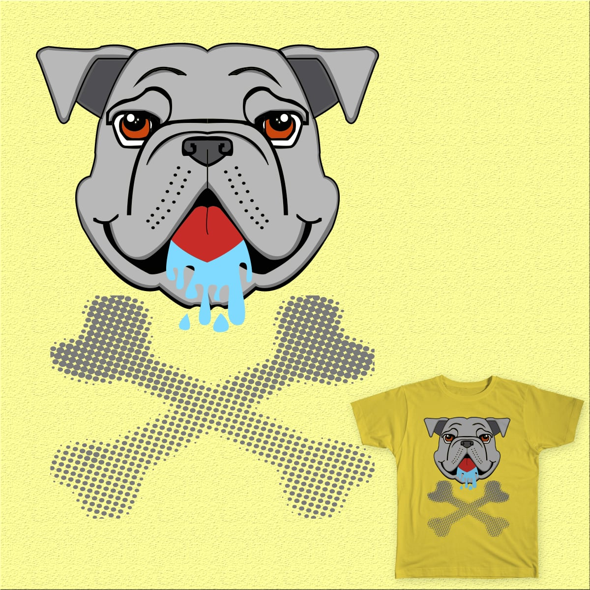 drooling dog by Mr-Cry-01 on Threadless