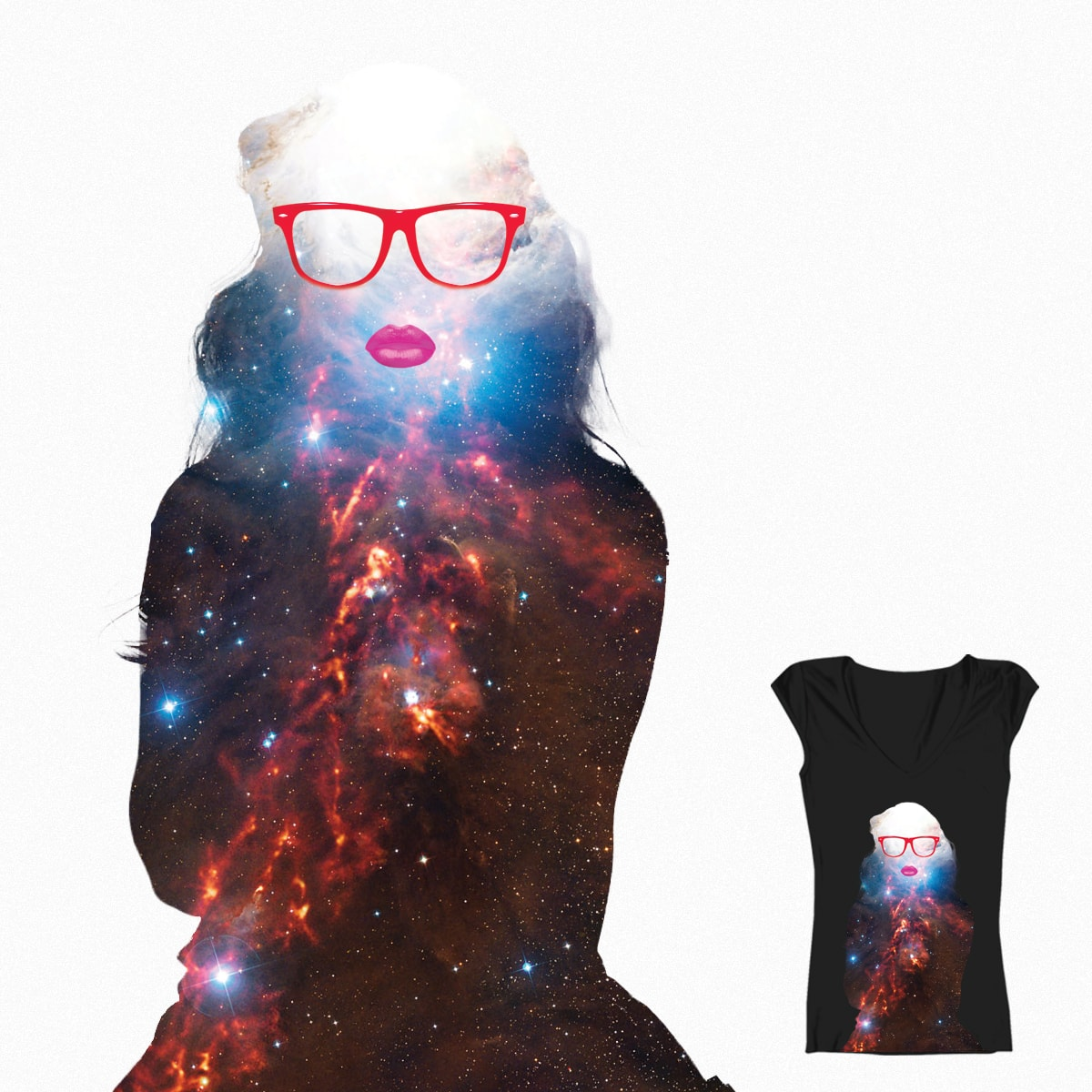 Space Chick by IngeniousArtist on Threadless