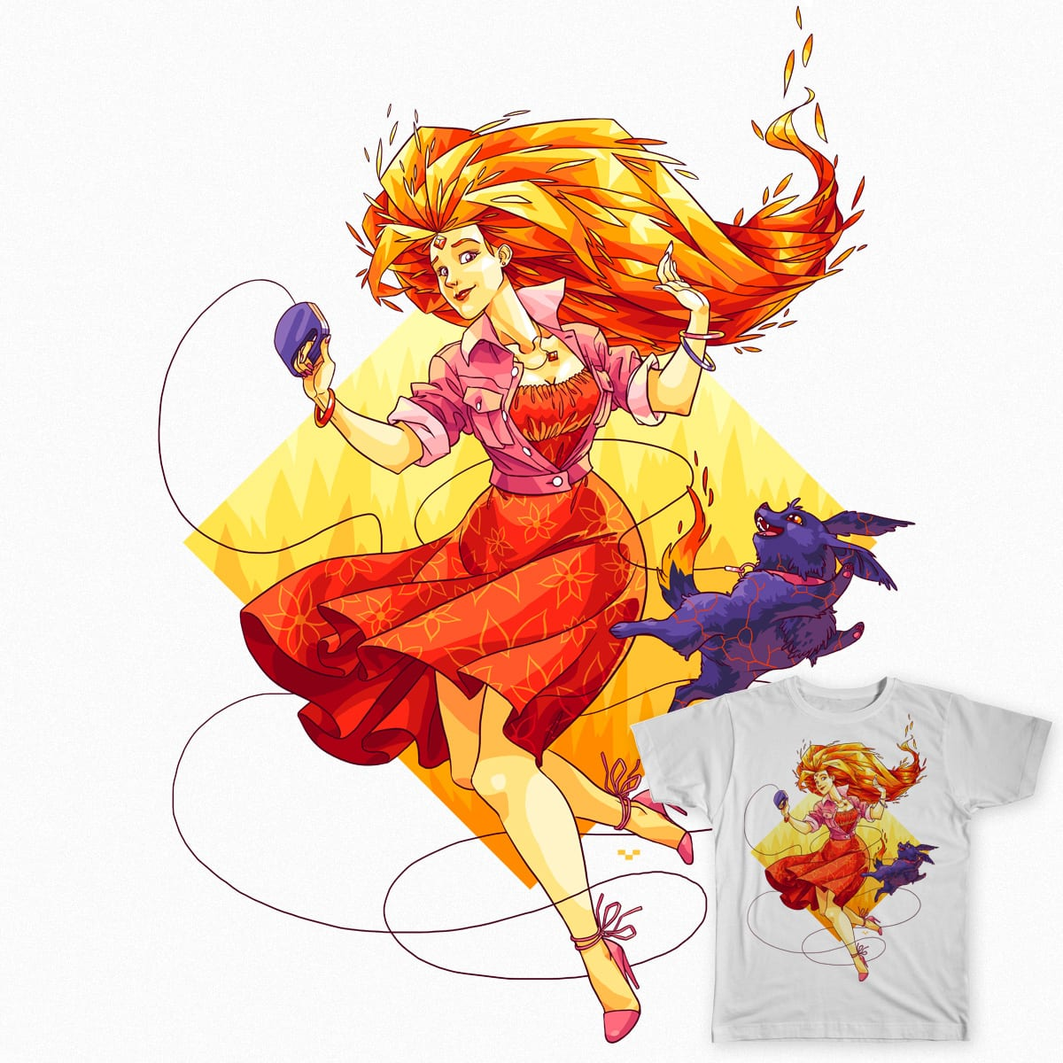 Flame chick by Ap6y3 on Threadless