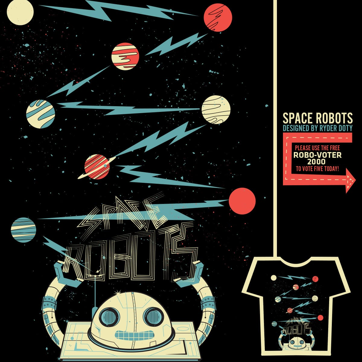Space Robots by Ryder on Threadless