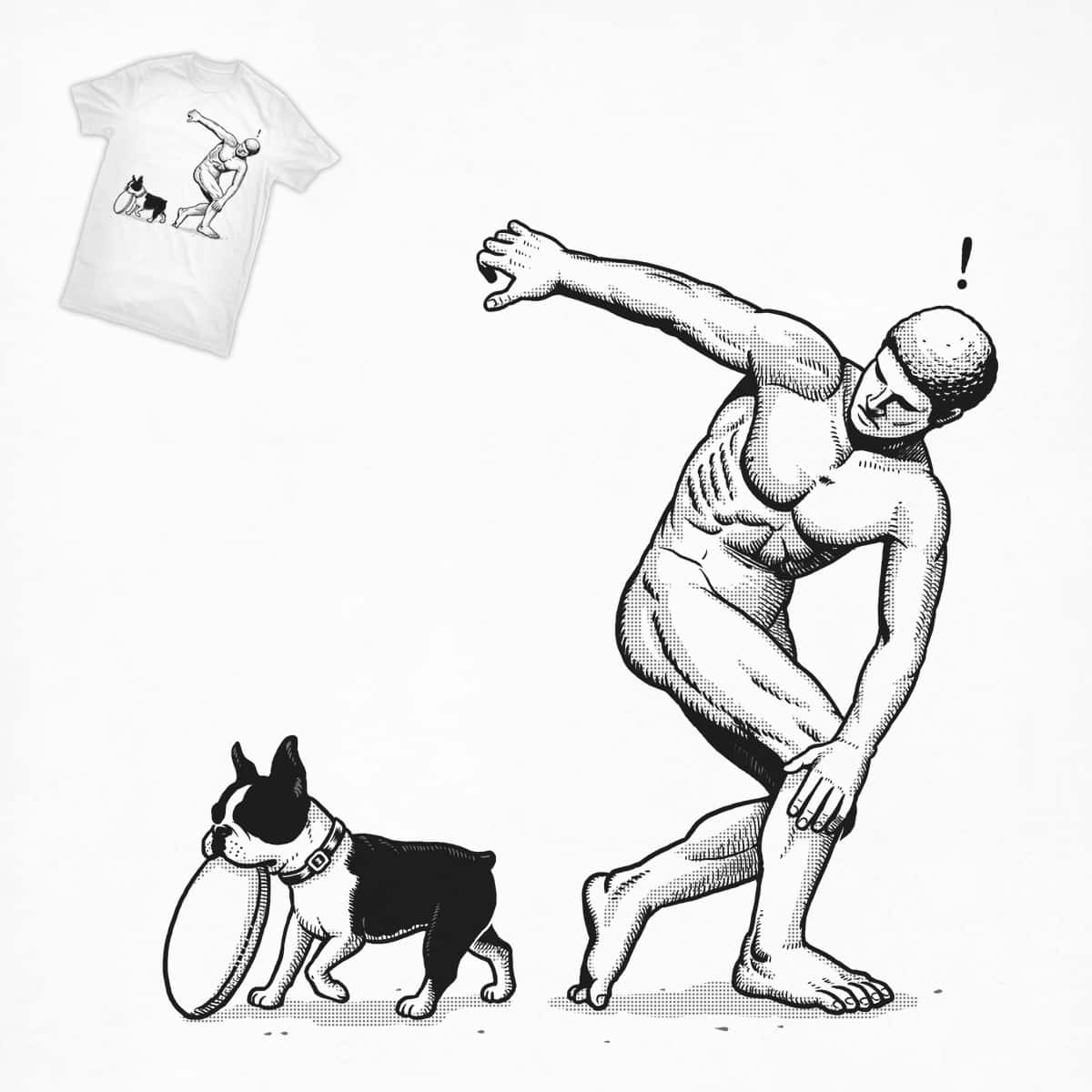 Dog & Frisbee by ben chen on Threadless