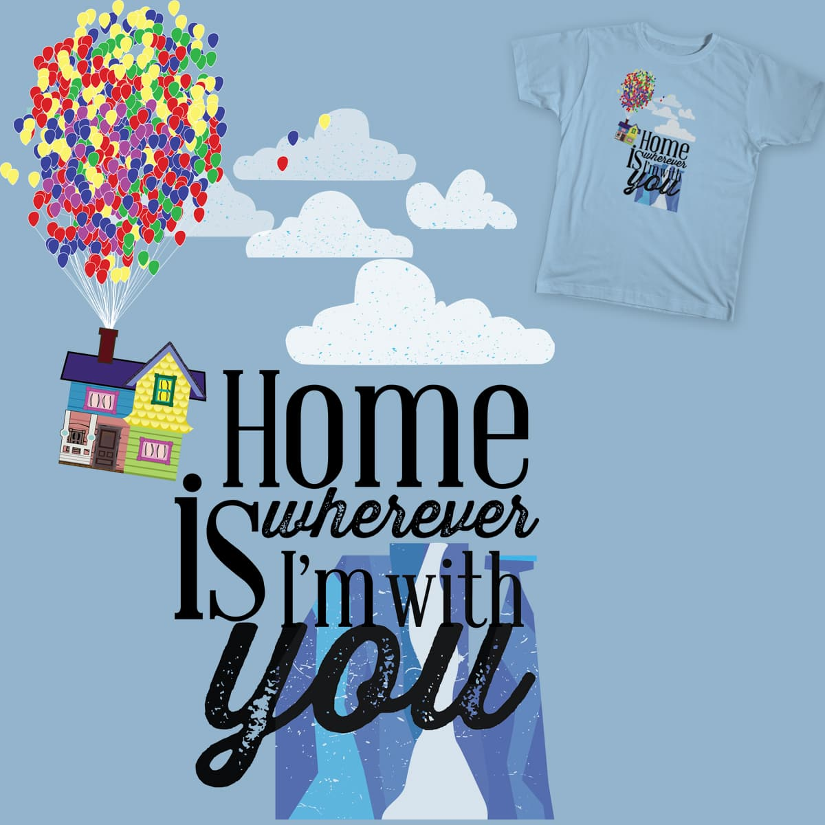 Home Is You by ceddyrichman and katiedidcards on Threadless
