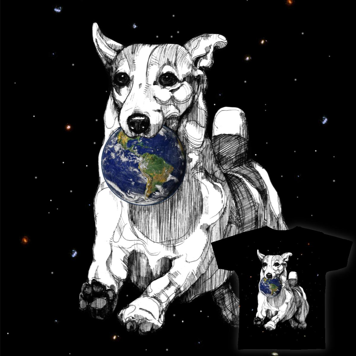space dog by aszna on Threadless