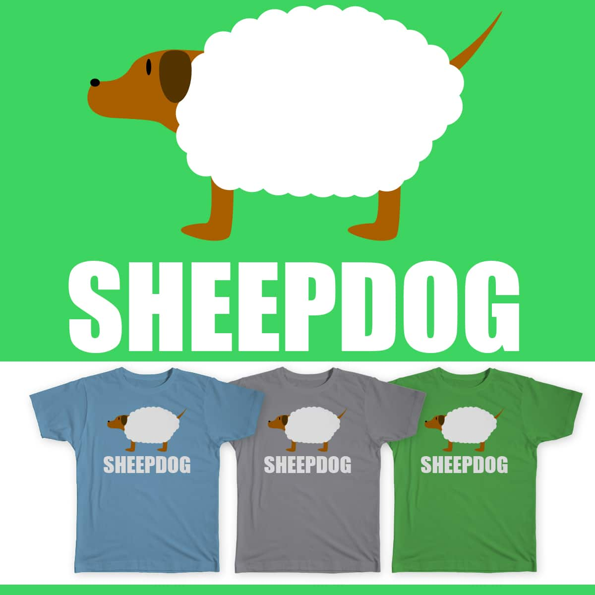 Sheepdog by gerardkwq on Threadless