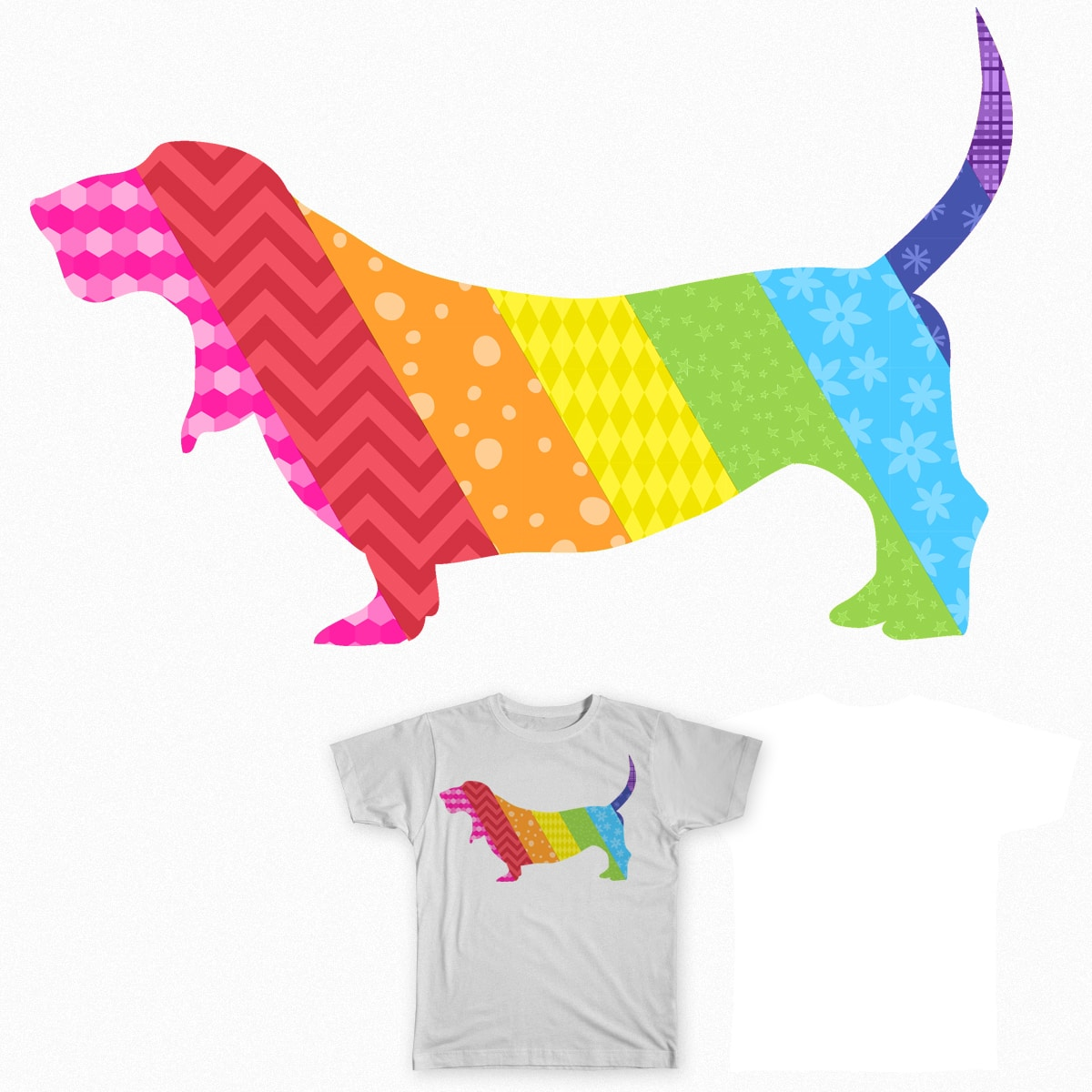Somewhere Over the Basset by robyriker on Threadless