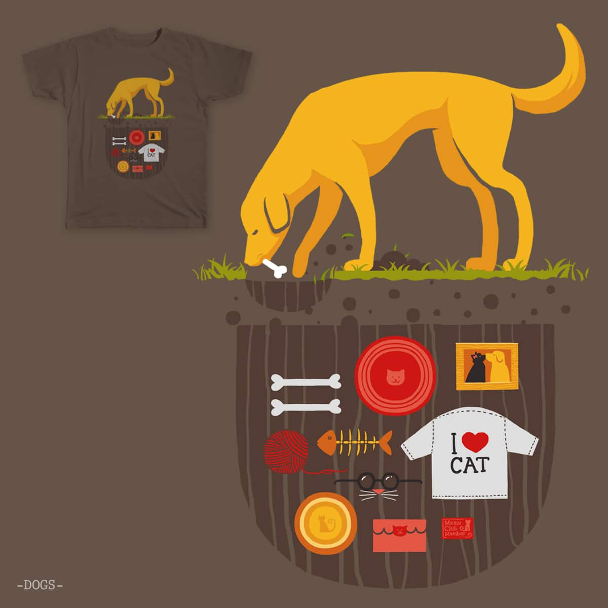 every dog have a secret by ronin84 and hadynoody on Threadless