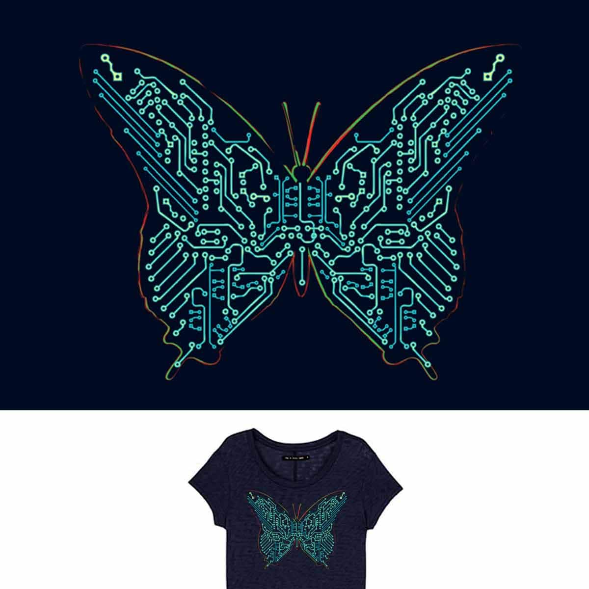 Float Like A Butterfly by radiomode on Threadless