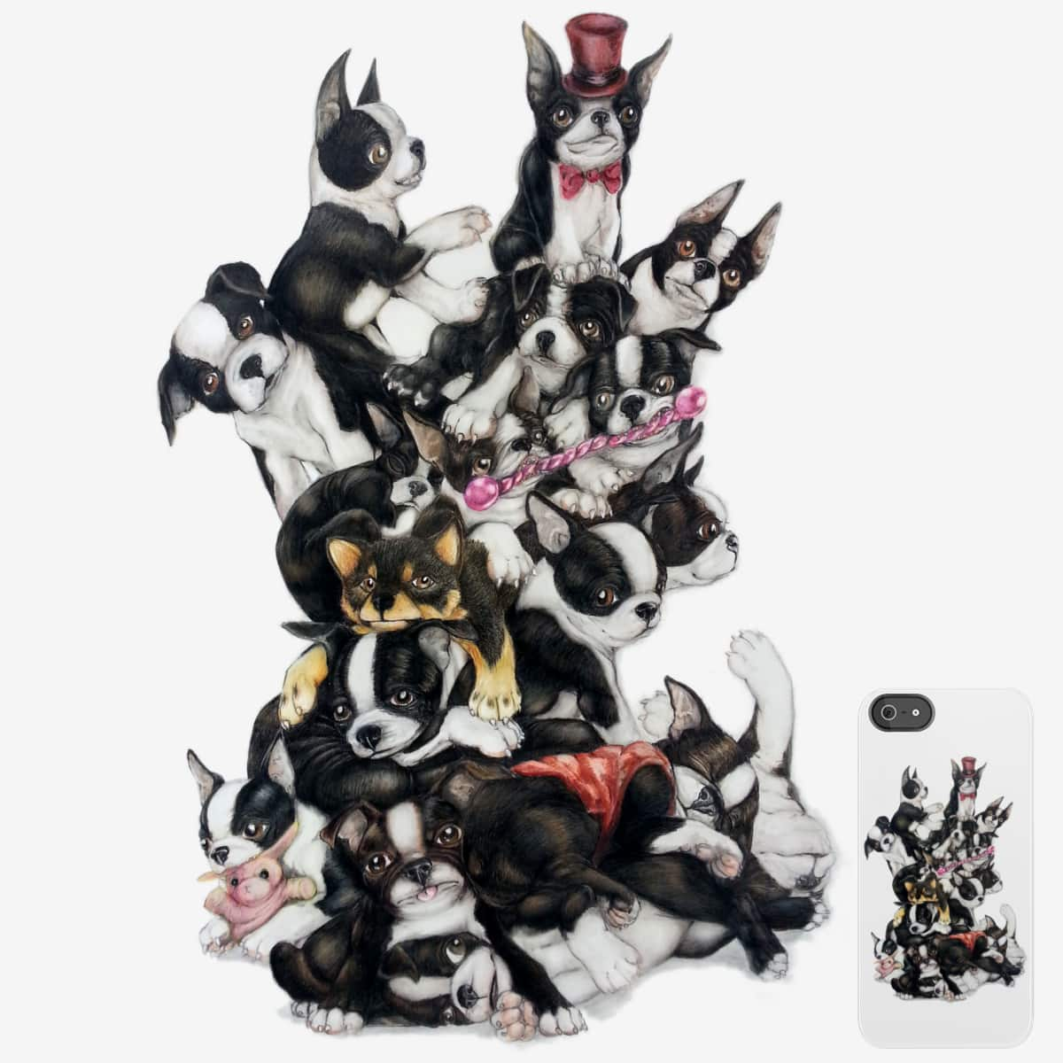 Puppy Pile by gorgonbunny on Threadless