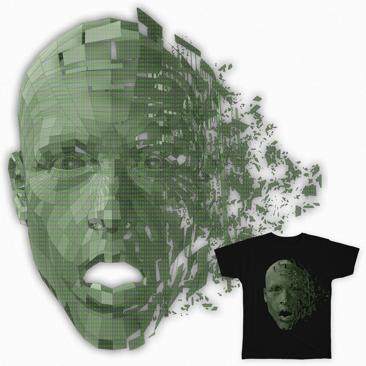 Collaborating Face by asifasghar1234 on Threadless