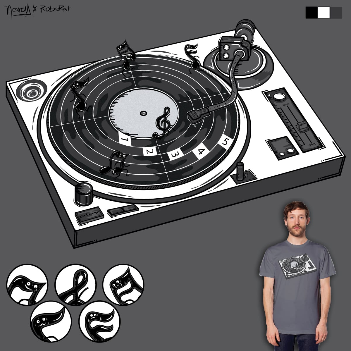 Music Track by je14 and Robo Rat on Threadless