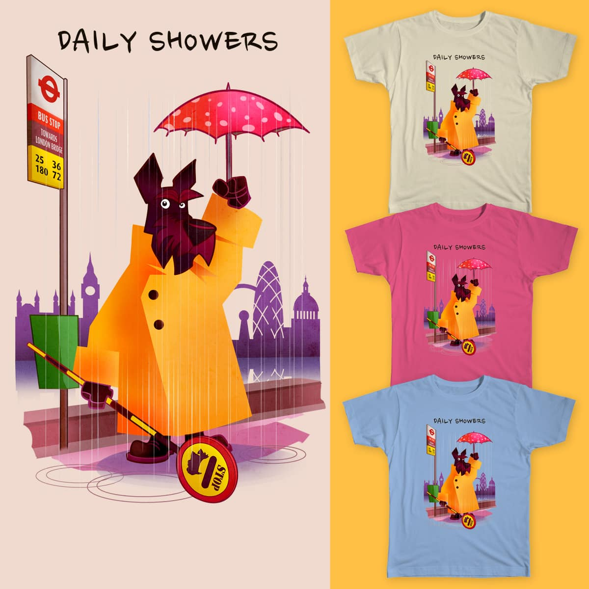 Daily Showers by martoonz on Threadless