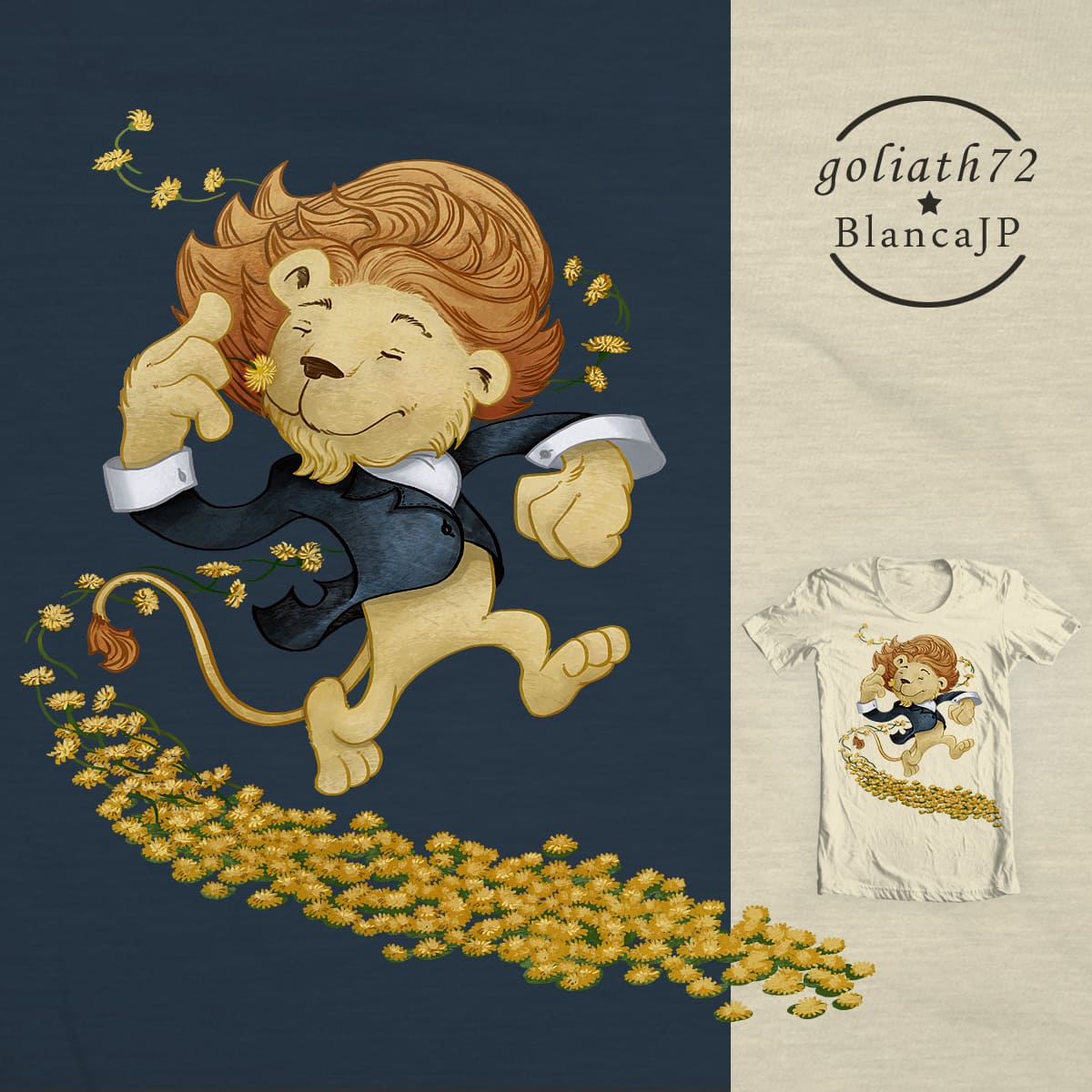Dandelion by BlancaJP and goliath72 on Threadless