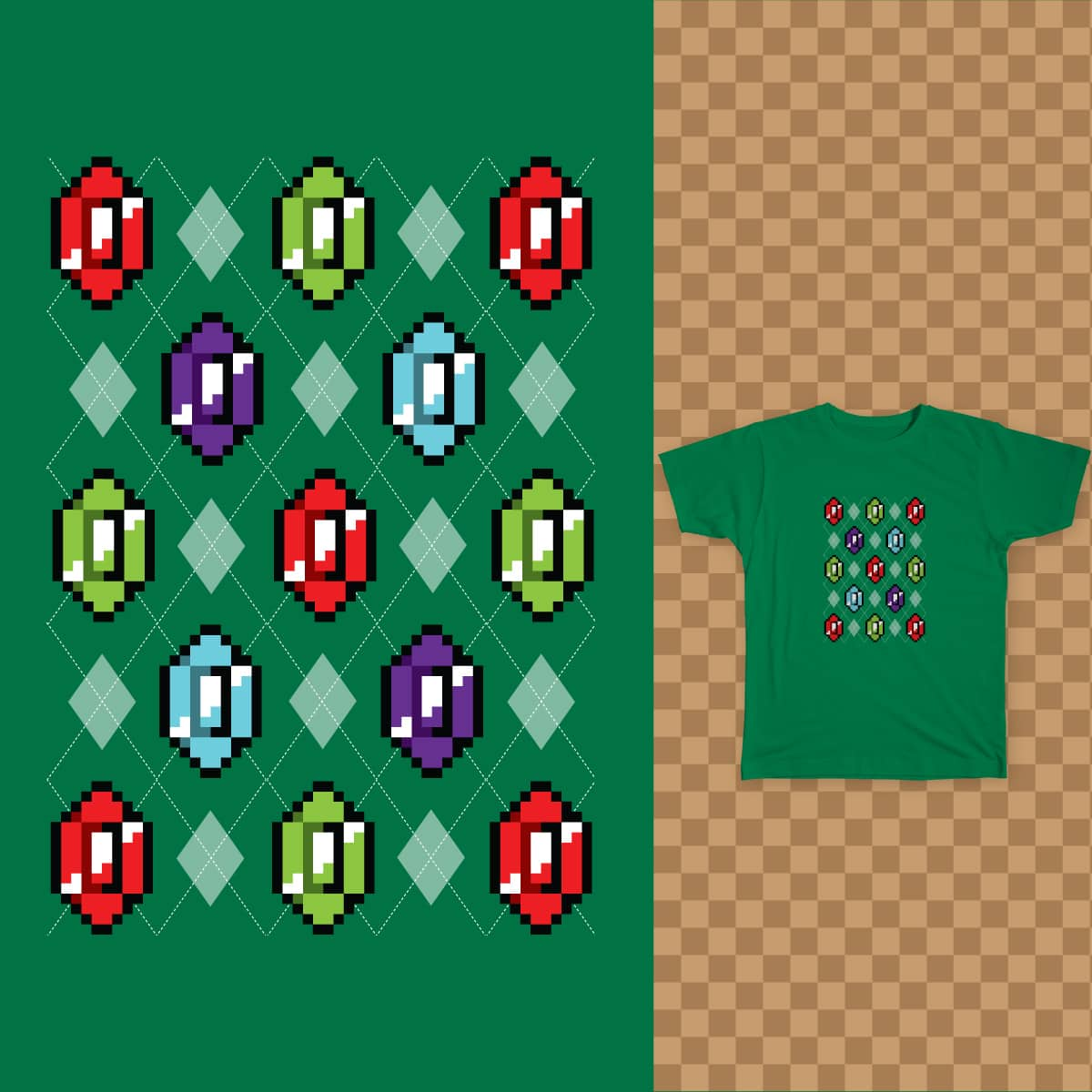 Pixel Riches by 256mb on Threadless