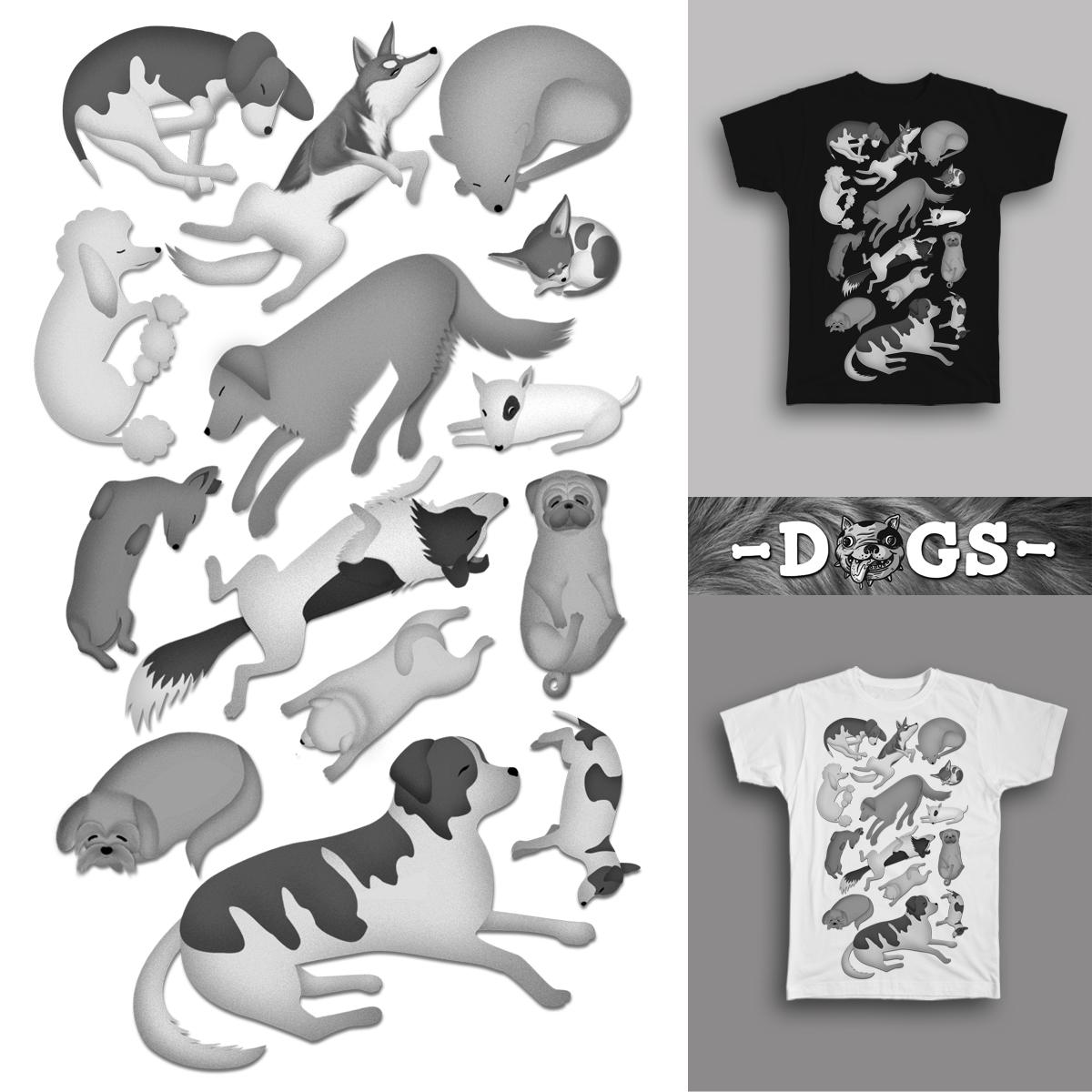 Sleeping Dogs 101 by farlyfs on Threadless