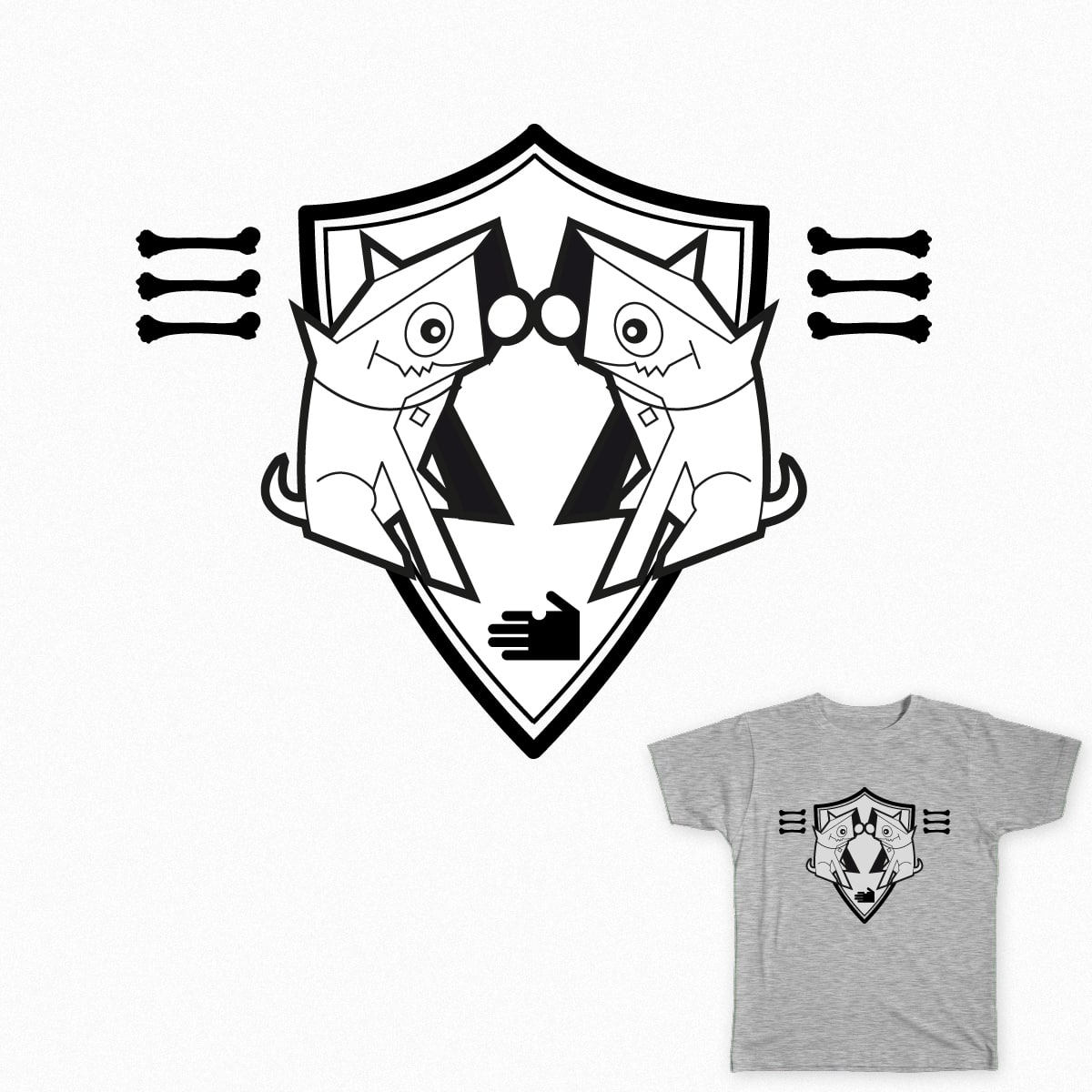 Dogs shield by newrobotz on Threadless
