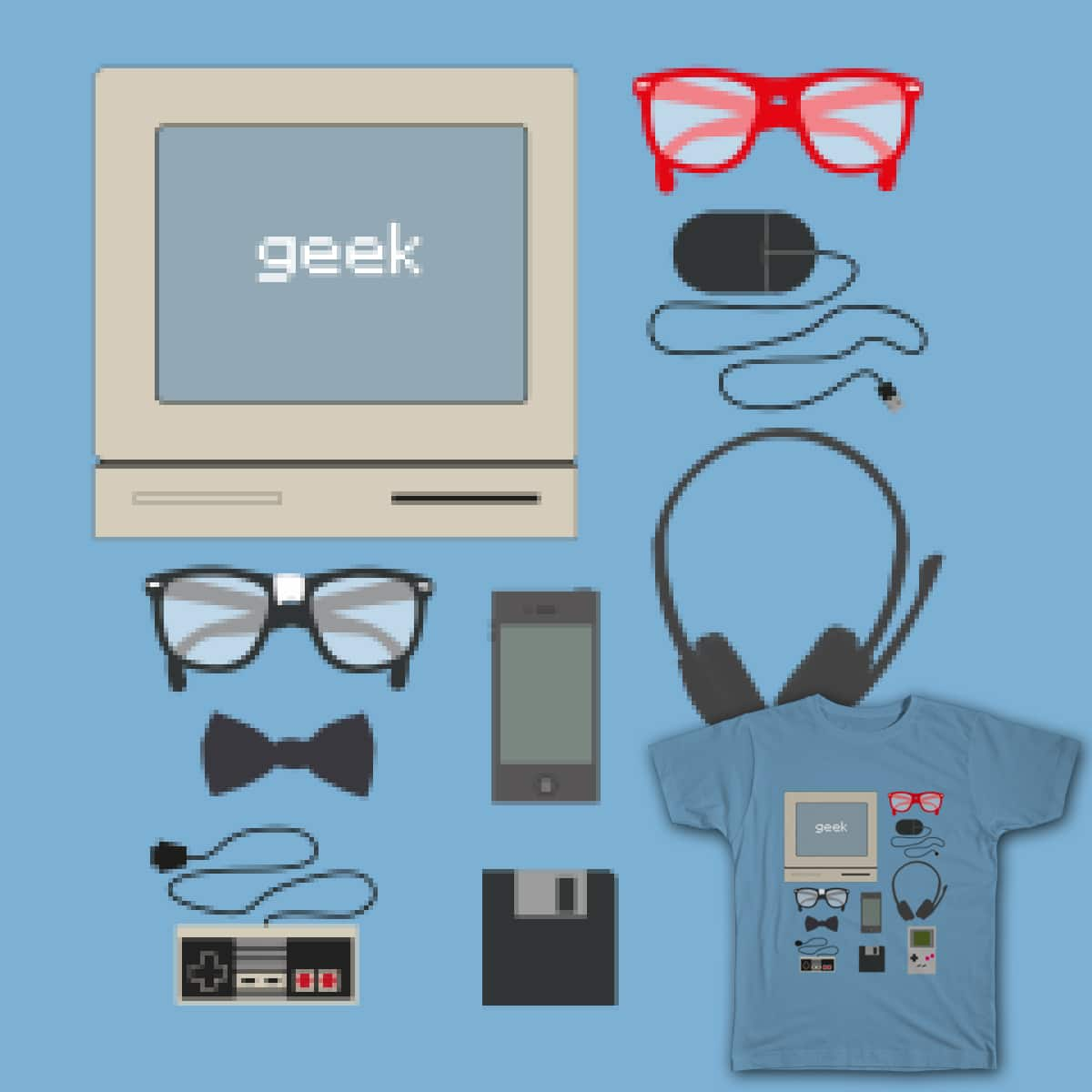 Geek Retro by ammooina on Threadless
