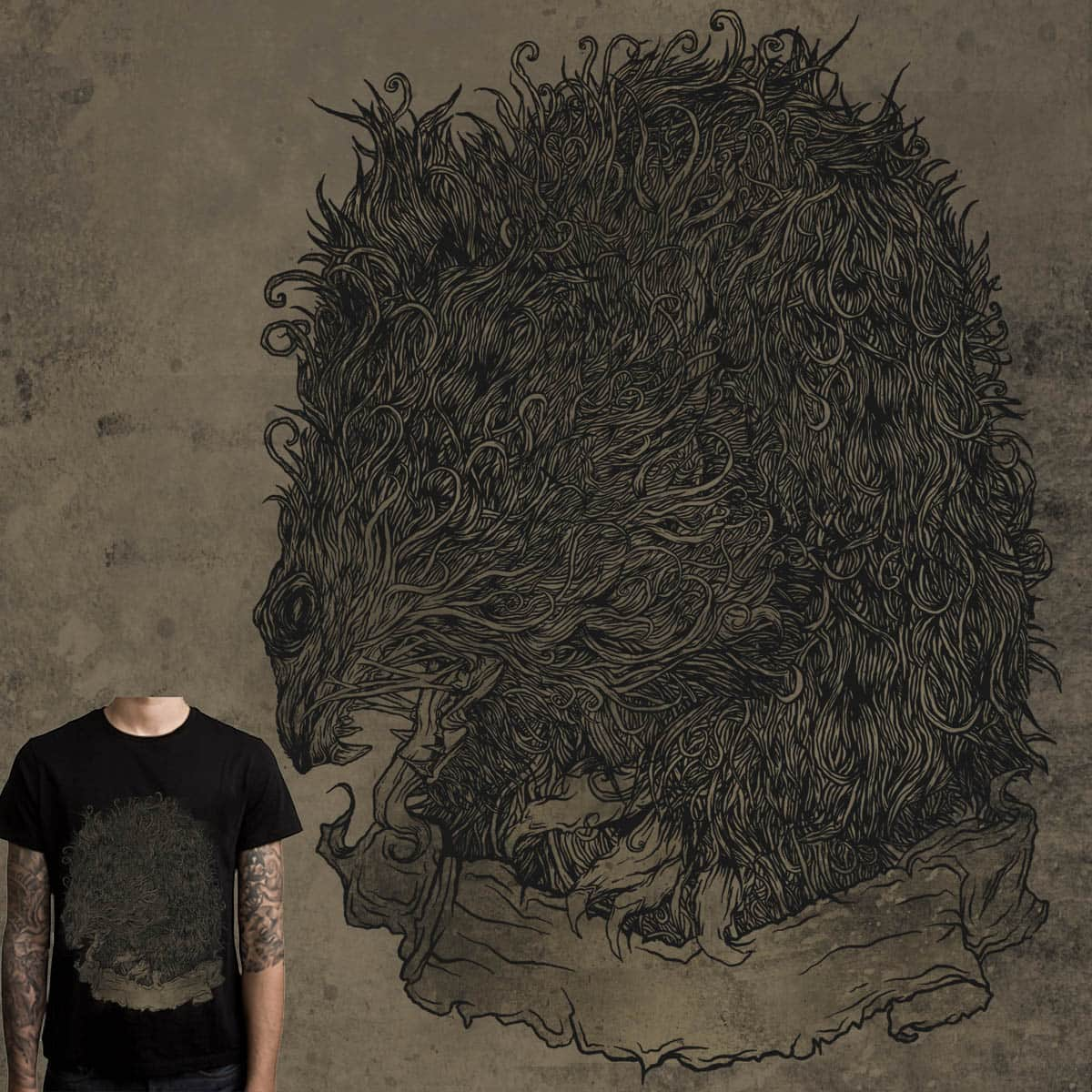 beast animal by gupikus on Threadless