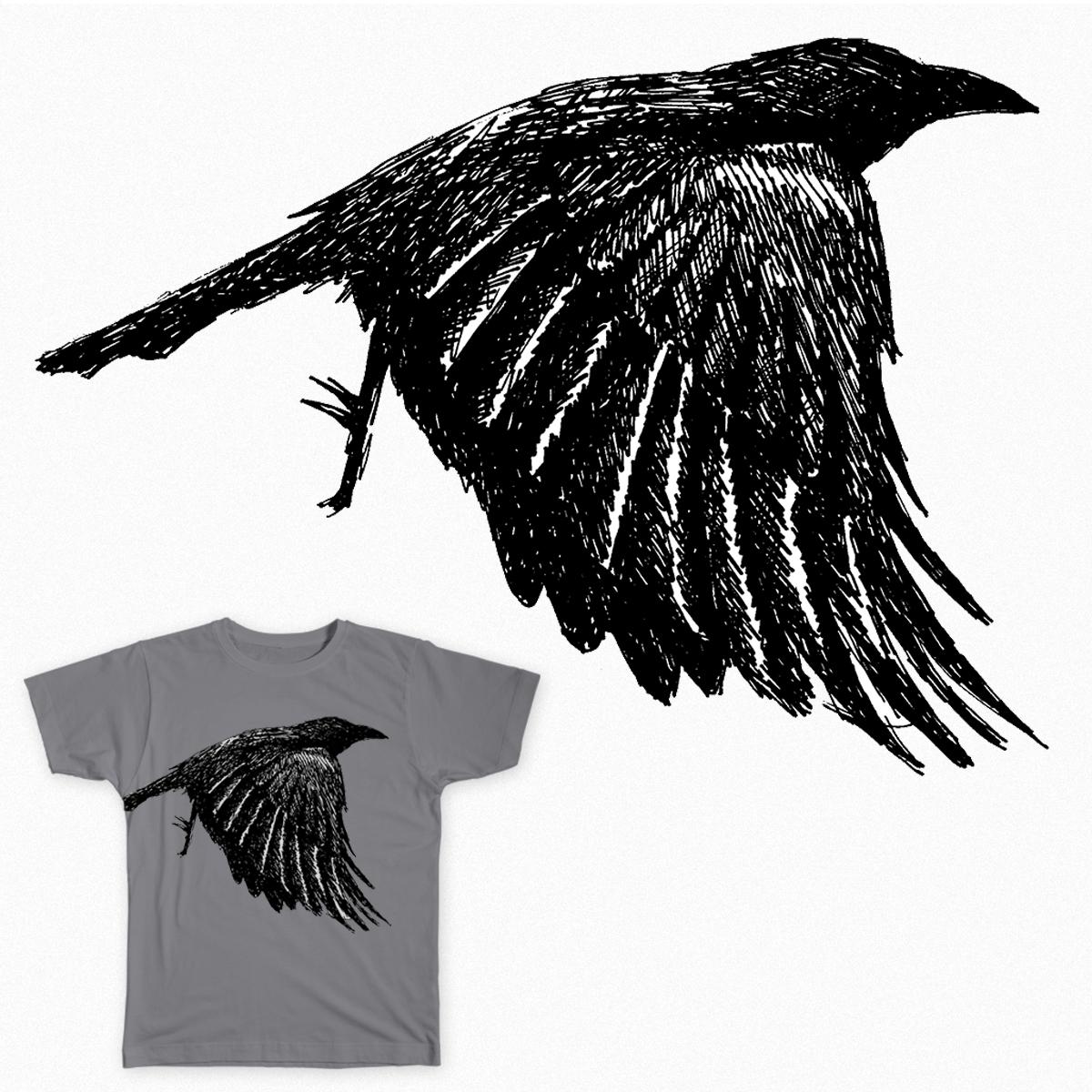 The Crow by libbyelliott on Threadless
