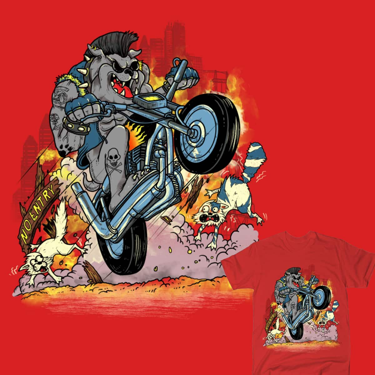 HERE COMES THE MAD DOG by dandingeroz and gaci on Threadless