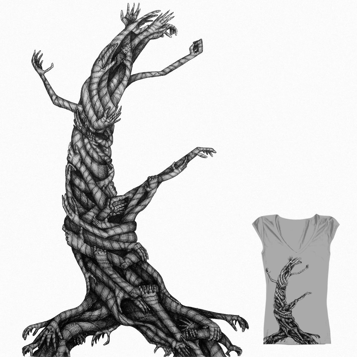 Mummy Hand Tree by KSheheen on Threadless