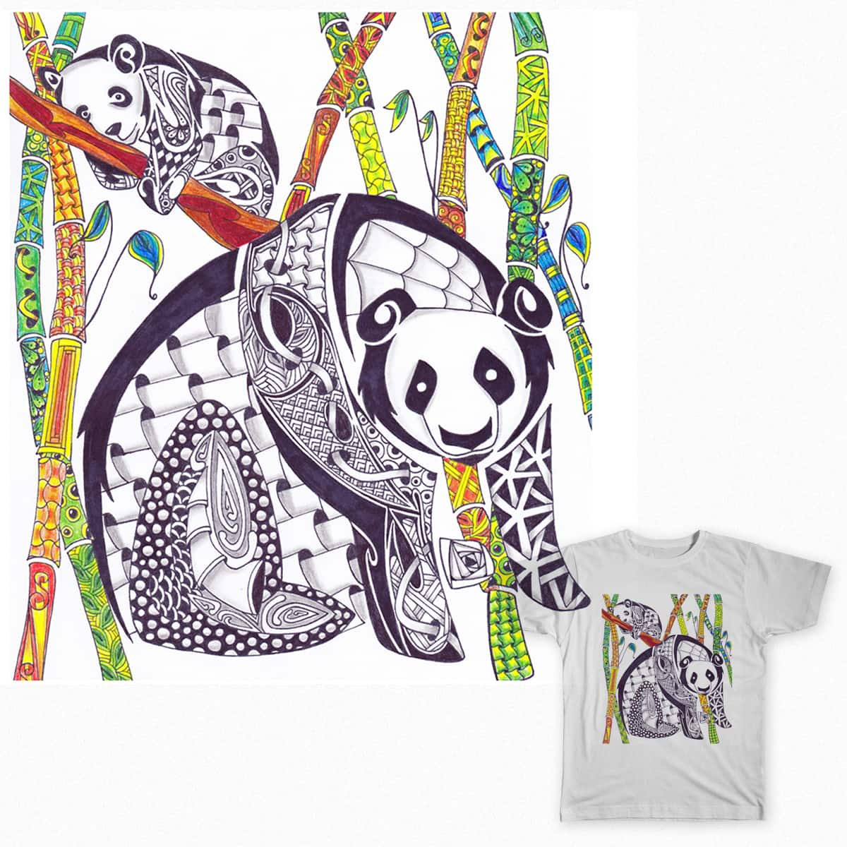 Zen Pandas by Lace Face on Threadless