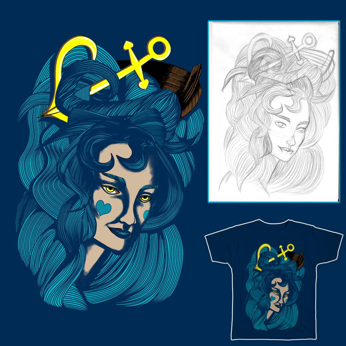Between the Devil and the Deep Blue Sea by samuelrd on Threadless