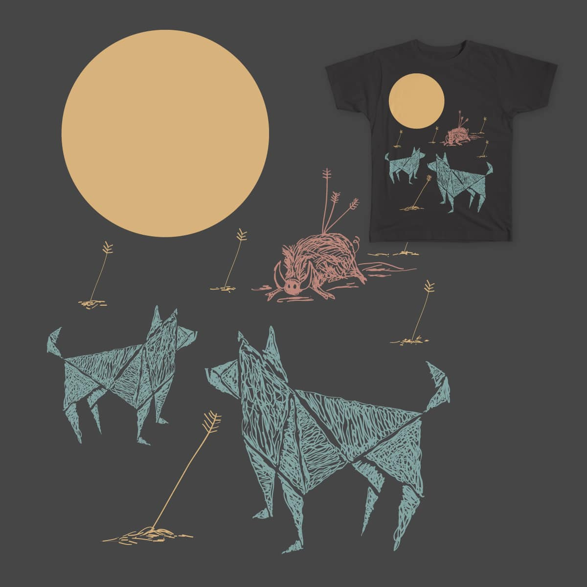 Hunting Party by pepelepew251 on Threadless