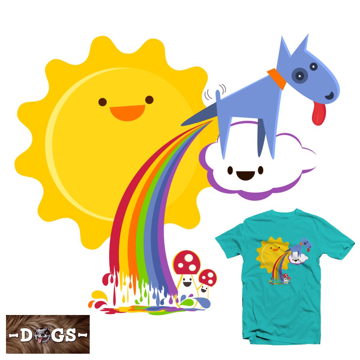 Rainbow Fred by hilektron on Threadless